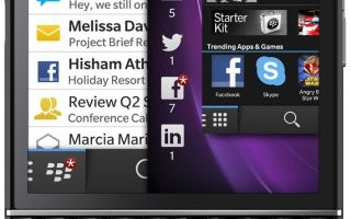 blackberry q10 характеристики
