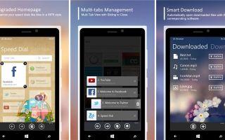 Подборка браузеров для Windows Phone