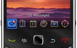blackberry curve 9300 характеристики